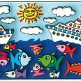 "James Rizzi ""Sea Ya Later"" 3D Siebdruck 6 x 12 cm"