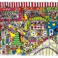 "James Rizzi ""The Fantastic Formula For Fun"" 3D Siebdruck 40 x 120 cm"
