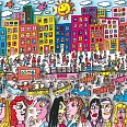 "James Rizzi ""The life and love in Brooklyn"" 3D-Siebdruck (drucksigniert) 40 x 60 cm"