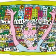 "James Rizzi ""This Is My Soho"" 3D Siebdruck 11 x 14 cm"
