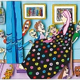 "James Rizzi ""Whistlers Mother"" 3D Siebdruck 19 x 21 cm"