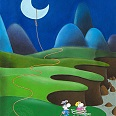 "Mordillo ""Moon on a string"" Fine Art Print 60 x 45 cm"