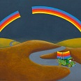 "Mordillo ""The Rainbow Thief"" Fine Art Print 48 x 60 cm"