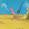 "Pink Panther ""On the Pirate Boat"" Original Production Cel 27 x 43 cm"