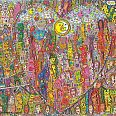 "James Rizzi ""Love in the heart of the city"" 3D-Siebdruck 79,5 x 110 cm"