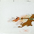 "Scooby Doo ""Scooby and Scrappy Doo"" Original Production Cel on Original Production Drawing 27 x 32 cm"
