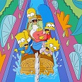 "Simpsons The Movie ""Itschy and Scatchy Land"" Lithographie 23 x 30 cm"