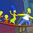 "Simpsons ""Walking the Plank"" (Simpsons with Plopper) Giclee 28 x 43 cm"