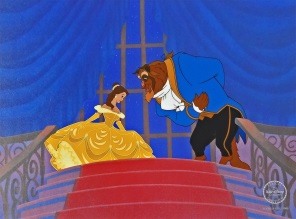 Beauty and the Beast at the ball Sericel 32 x 40 cm web