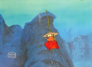 Disney Art Sebastien 1 Original Production Cel 27 x 32 cm web