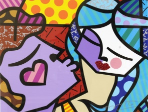 "Romero Britto ""Sweet Kisses too"" giclée 40 x 50 cm"