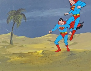 Superman Landing Original Production Cel on Original Production Background 28 x 36 cm web