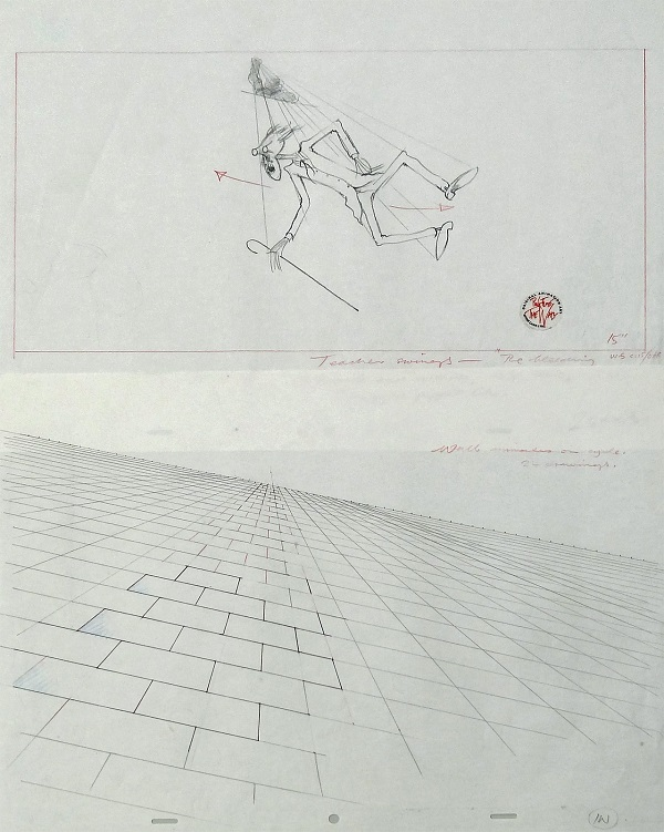 "Pink Floyd - The Wall ""The Teacher"" Original Production Layout Drawings 57 x 41 cm © Pink Floyd"