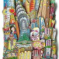 "Charles Fazzino ""Melting Hot Summer in NYC"" 3D-Siebdruck 70 x 40 cm"