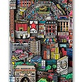 "Charles Fazzino ""Slice Of The Big Apple"" 3D Unikat auf Leinwand 127 x 49 cm"