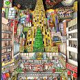 "Charles Fazzino ""That Holiday Nite in NYC"" 3D-Siebdruck, 75 x 65 cm"