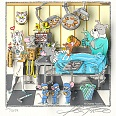 "Charles Fazzino ""Tom & Jerry's Surgical CATastrophe (WB Doctor Series)"" 3D Siebdruck 35 x 35 cm"