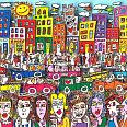 "James Rizzi ""Every picture tells a story"" 3D-Siebdruck 16,5 x 22 cm"