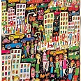 "James Rizzi ""In a trance of a colorful glance by chance"" 3D-Siebdruck 54 x 38 cm"