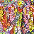 "James Rizzi ""Looking for the apple of my heart"" 3D-Siebdruck 16,4 x 64,6 cm"