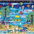 "James Rizzi ""Paradise Lost And Found"" 3D-Siebdruck 38 x 50 cm"