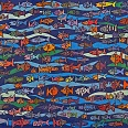 "James Rizzi ""Stay close to the ones you love"" 2004 Collage Unikat handbemalt 62 x 86 cm"
