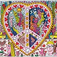"James Rizzi ""The best peace of my heart"" 3D-Siebdruck 20,7 x 26,9 cm"