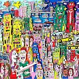 "James Rizzi ""The colors of my city"" 3D-Siebdruck 28,6 x 36,7 cm"