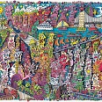 "James Rizzi ""The past is history, tomorrow is a mystery, today is a gift"" 3D-Siebdruck 28 x 36 cm"