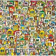 "James Rizzi ""Touch someone with your thoughts (E-Mail)"" 3D-Siebdruck 66 x 92 cm"